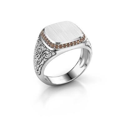 Herrenring Jesse 2 375 Weißgold Braun Diamant 0.255 crt