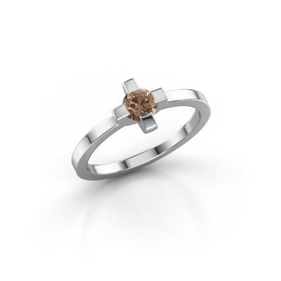 Bild von Ring Therese 585 Weissgold Braun Diamant 0.30 crt