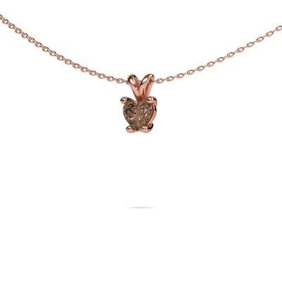 Foto van Ketting Sam Heart 375 rosé goud bruine diamant 0.50 crt