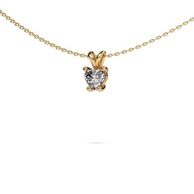 Foto van Ketting Sam Heart 375 goud lab-grown diamant 0.50 crt