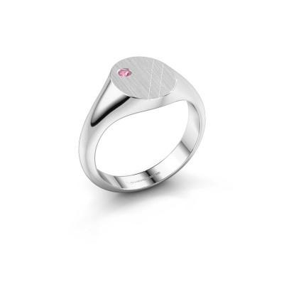 Foto van Pinkring Finn 3 925 zilver roze saffier 2 mm