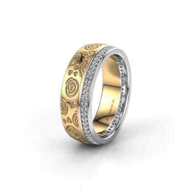 Trouwring WH2066L27D 585 goud diamant 0.295 crt ±7x2.4 mm