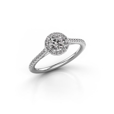 Foto van Verlovingsring Marty 2 950 platina diamant 0.655 crt