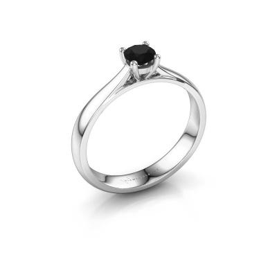 Verlobungsring Sam 950 Platin Schwarz Diamant 0.36 crt