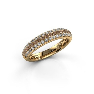 Foto van Ring Emely 4 375 goud bruine diamant 0.626 crt