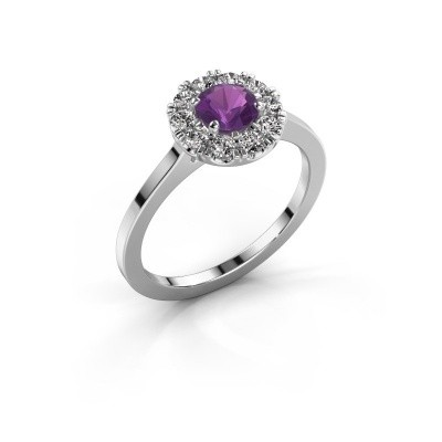Picture of Engagement ring Misti 1 925 silver amethyst 5 mm
