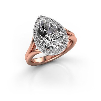 Picture of Engagement ring Elenore 585 rose gold diamond 3.288 crt