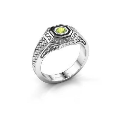Foto van Heren ring Dion 375 witgoud peridoot 4 mm