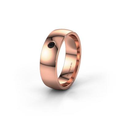 Foto van Trouwring WH0101L26AP 375 rosé goud zwarte diamant ±6x1.4 mm