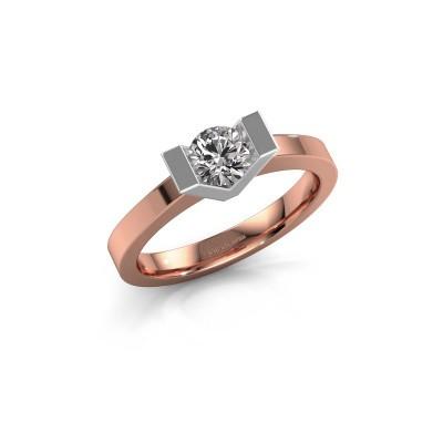 Bague de fiançailles Sherley 1 585 or rose diamant 0.40 crt