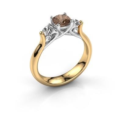 Foto van Verlovingsring Jente 585 goud bruine diamant 0.95 crt