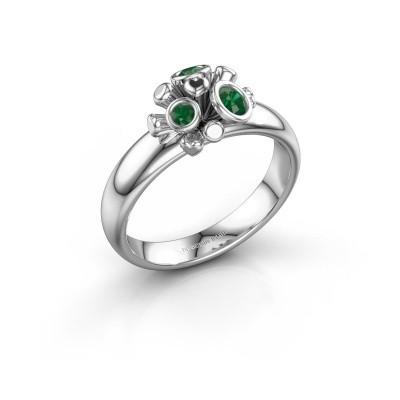 Ring Pameila 925 zilver smaragd 2 mm