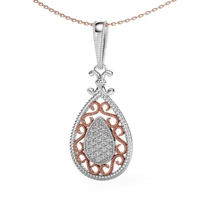 Picture of Pendant Tammie 585 white gold lab-grown diamond 0.27 crt