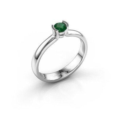 Engagement ring Ophelia 585 white gold emerald 4 mm