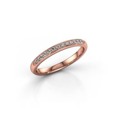 Foto van Zijring SR20B6H 375 rosé goud diamant 0.156 crt
