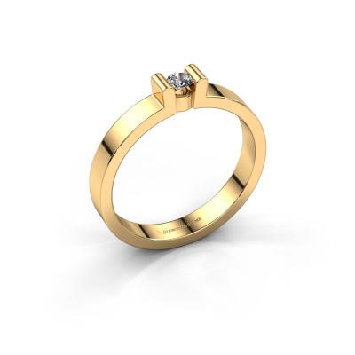 Verlovingsring Sofie 1 585 goud zirkonia 3 mm