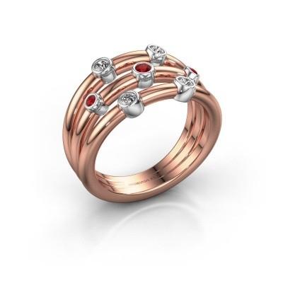 Ring Chloe 585 rose gold ruby 2 mm