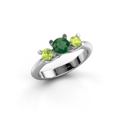 Ring Mirthe 950 platinum emerald 5 mm