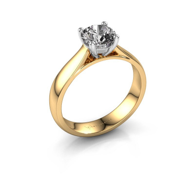 Bague de fiançailles Sam 585 or jaune diamant 1.00 crt