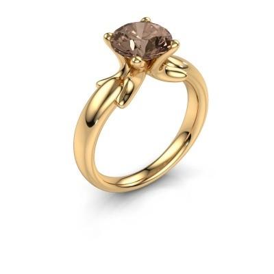 Bague Jodie 585 or jaune diamant brun 2.00 crt