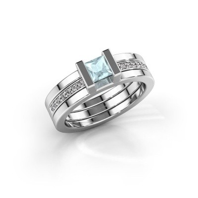 Picture of Ring Desire 585 white gold aquamarine 4 mm