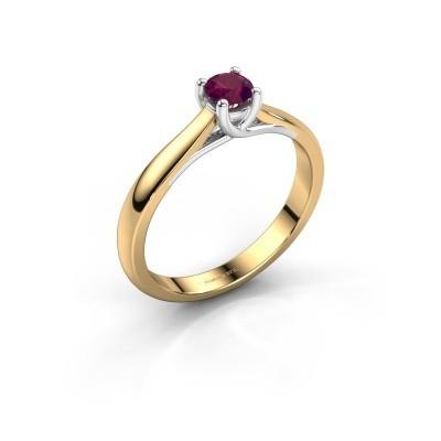 Verlobungsring Mia 1 585 Gold Rhodolit 4 mm