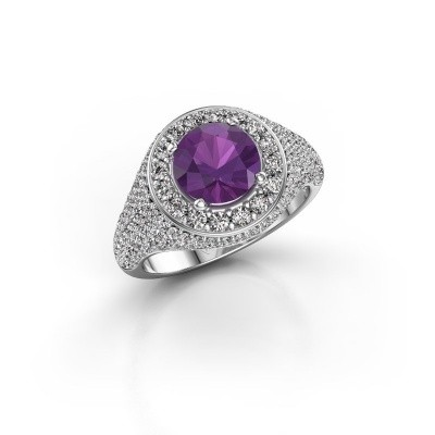 Picture of Ring Dayle 585 white gold amethyst 7 mm