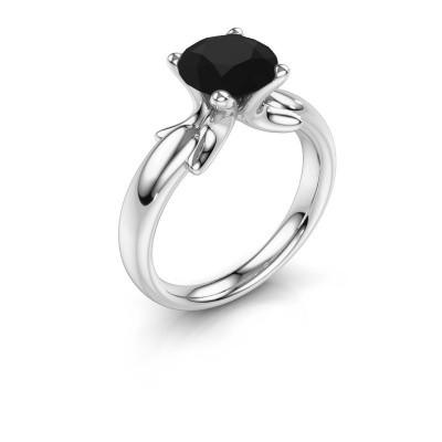 Ring Jodie 925 zilver zwarte diamant 2.40 crt