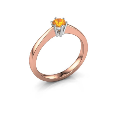 Picture of Engagement ring Noortje 585 rose gold citrin 4 mm