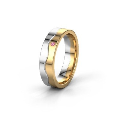 Ehering WH0701L15AP 585 Weißgold Pink Saphir ±5x1.7 mm