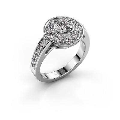 Bague de fiançailles Raven 2 950 platine diamant 1.35 crt