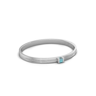 Bracelet Desire 585 white gold blue topaz 4 mm