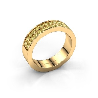 Stackable ring Catharina 6 375 gold yellow sapphire 1.7 mm
