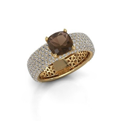 Engagement ring Darcy 375 gold smokey quartz 7 mm