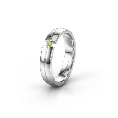 Wedding ring WH0254L24X 925 silver peridot ±0.16x0.06 in