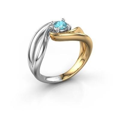 Ring Kyra 585 Gold Blau Topas 4 mm
