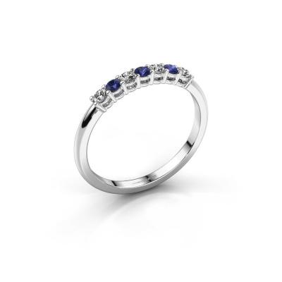 Verlovings ring Michelle 7 585 witgoud saffier 2 mm