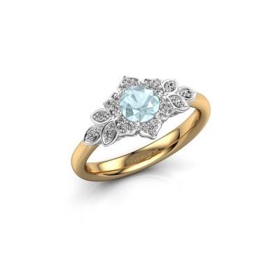 Engagement ring Tatjana 585 gold aquamarine 5 mm