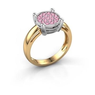 Ring Dina 585 Gold Pink Saphir 1.6 mm