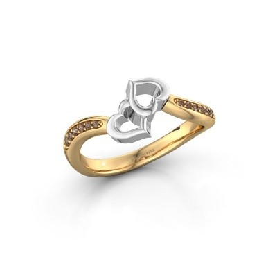 Ring Xaviera 585 Gold Braun Diamant 0.112 crt