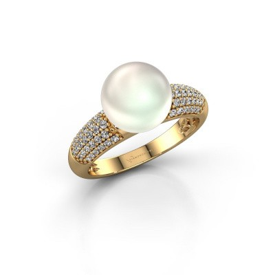 Foto van Ring Anisa 585 goud witte parel 9 mm