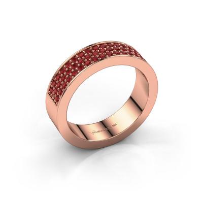 Ring Lindsey 4 585 rosé goud robijn 1.3 mm