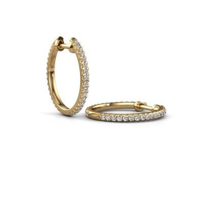 Picture of Hoop earrings Jackie 15 mm A 375 gold zirconia 1.2 mm
