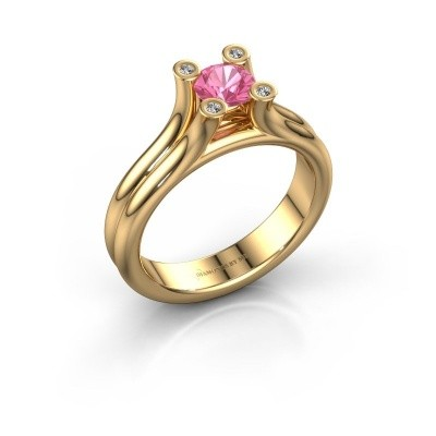 Engagement ring Stefanie 1 585 gold pink sapphire 5 mm