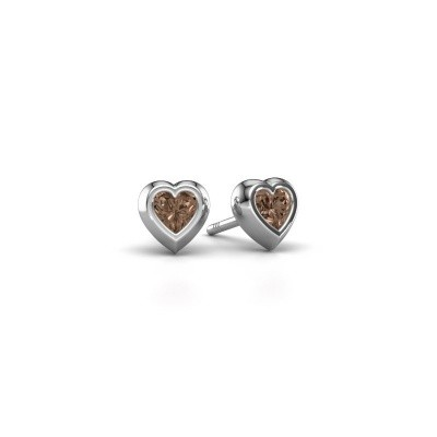 Oorknopjes Charlotte 950 platina bruine diamant 0.50 crt