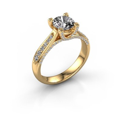 Verlovingsring Mia 3 375 goud diamant 1.412 crt