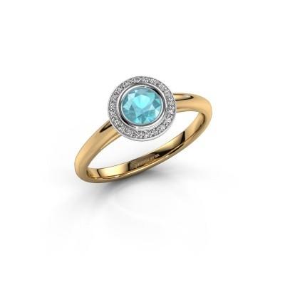 Promise ring Noud 1 RND 585 gold blue topaz 4.7 mm