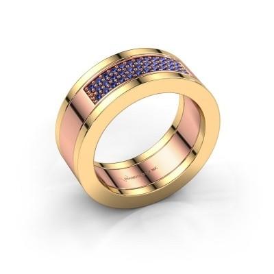 Foto van Ring Marita 1 585 rosé goud saffier 1.1 mm