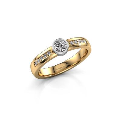 Engagement ring Ise 2 585 gold diamond 0.45 crt