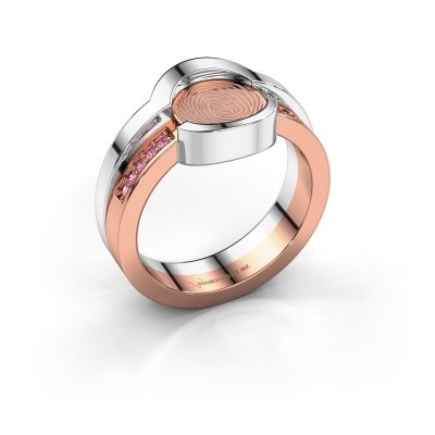 Ring Leander 585 rose gold pink sapphire 0.8 mm